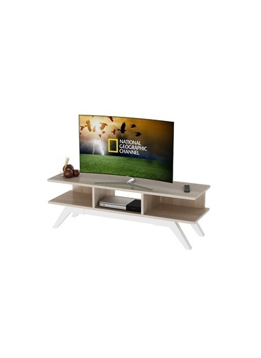 Sanal Mobilya New Retro Tv Sehpası Sonomo/Beyaz Kahve